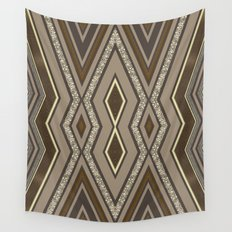 Geometric Rustic Glamour Wall Tapestry