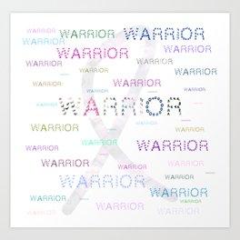 Warrior, Cancer Warriors Art Print