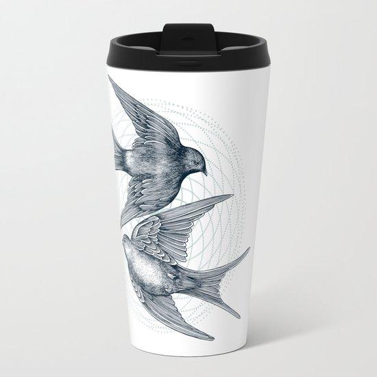 Two Swallows Travel Mug