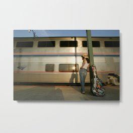 Waiting at the Station, Memphis, Tennessee Photograph Metal Print