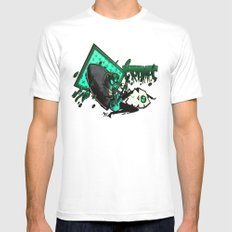 HUMAN FLY 2 MEDIUM White Mens Fitted Tee