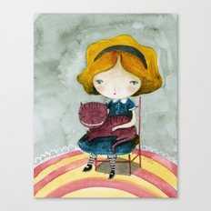 Alice In Watercolorland Canvas Print