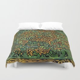 Abstract Lion Duvet Cover