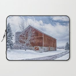 Snowing at the Farm Laptop Sleeve