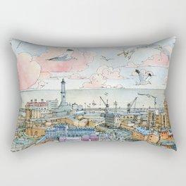 Genova e la Lanterna Rectangular Pillow