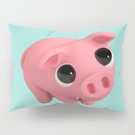 Rosa the Pig is shy Pillow Sham
