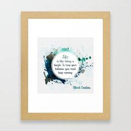 Albert Einstein's quote Framed Art Print