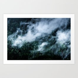 Foggy Mornings in the Mountains 4x6 Art Print