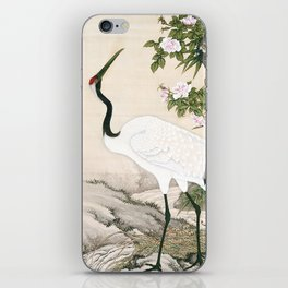 Crane and Chinese Roses iPhone Skin