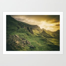 Mesmerized By the Quiraing IV Art Print