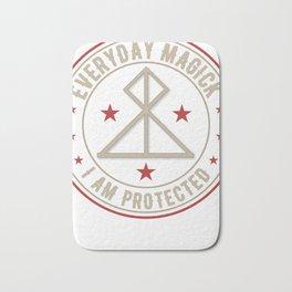 I Am Protected magickal activated sigil tshirt gift Bath Mat