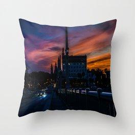 Atomic Augustine Throw Pillow