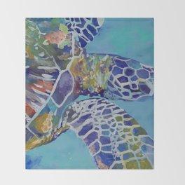 Honu Kauai Sea Turtle Throw Blanket
