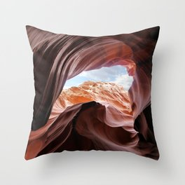 Antelope Canyon Throw Pillow