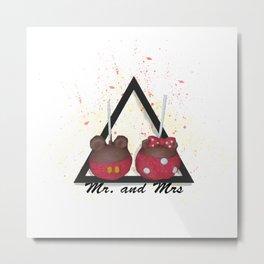 Mr. and Mrs Metal Print