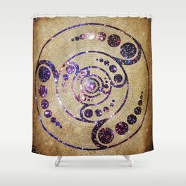 The Harmonious Circle  Shower Curtain