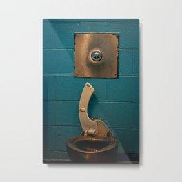 Broken Steel Toilet, A Metal Print