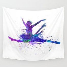 Woman ballerina ballet dancer dancing Wall Tapestry