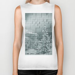 Winter collage Biker Tank
