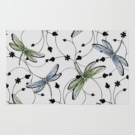 Dragonflies in the garden Rug