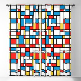 Mondrian design, abstract pattern Blackout Curtain