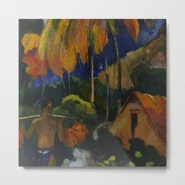 "Paul Gauguin ""Landscape in Tahiti (Mahana Maà)"" Metal Print"