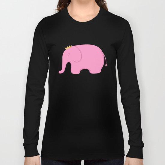 Queen Pink Elephant Long Sleeve T-shirt