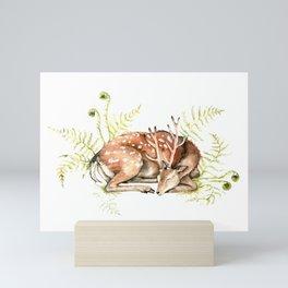Sleeping Deer Mini Art Print
