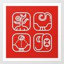 Mayan Glyphs ~ Nature by runes