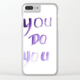 150226 Typography 20 Clear iPhone Case