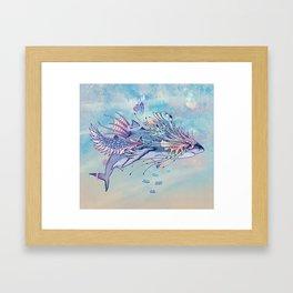 Journeying Spirit (Shark) Framed Art Print