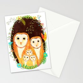 Owl Family Home Stationery Cards