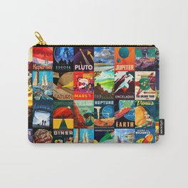 Mosaic - retro space travel Carry-All Pouch