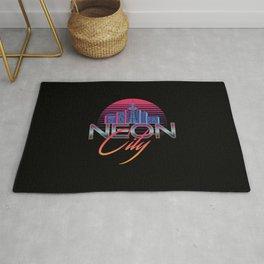 Neon City Retro Wave - 80's Aesthetics Rug