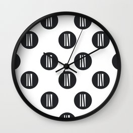 IN white logo - up in the air Wall Clock