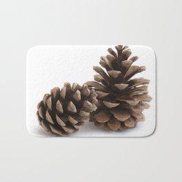 Two pinecones Bath Mat