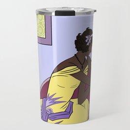 CLARICE: Art Deco Lady - Elegant Spring Travel Mug