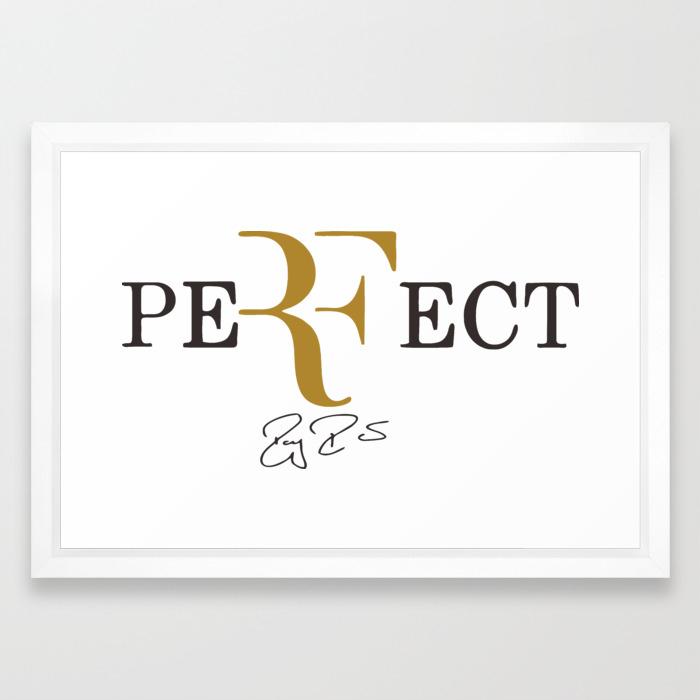 Roger Federer Framed Art Print By Bravedesign Society6