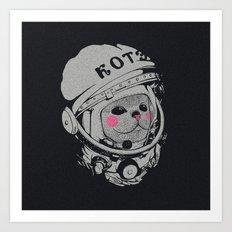 Spaceman cat Art Print