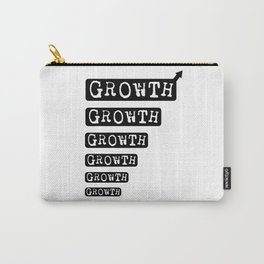 Growth Motivational Design Black and White Carry-All Pouch