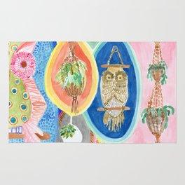 Owl Macrame Rug