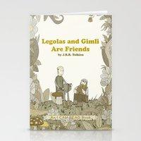 legolas Stationery Cards featuring Legolas and Gimli Are Friends by James E. Hopkins