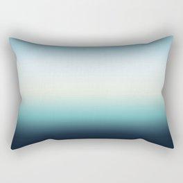 ocean sky color gradient  - blue , white , black Rectangular Pillow
