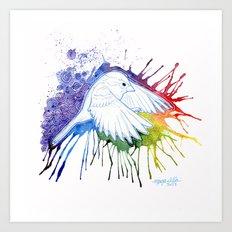 Colorburst Sparrow Art Print