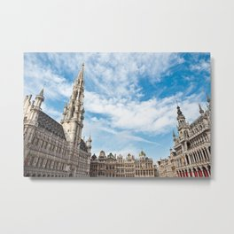 Grand Place in Brussels, Belgium Metal Print