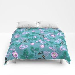 Chipmunks in the Strawberries Comforters
