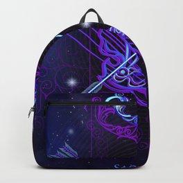 Zodiac neon signs — Sagittarius Backpack