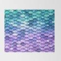 Mermaid Ombre Sparkle Teal Blue Purple by vintageappeal623