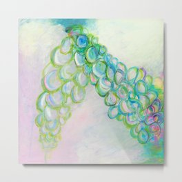 Moving In Different Directions, Abstract Painting Metal Print