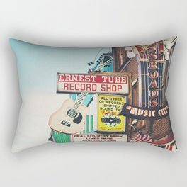 Lower Broadway, Nashville print  Rectangular Pillow